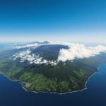 Vue de dessus de La Réunion