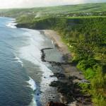 Plage de grand Anse vue du ciel en drone